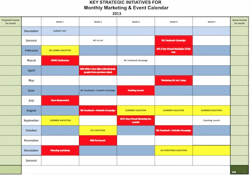 annual calendar of events template - 7 reasons why you need a written marketing plan